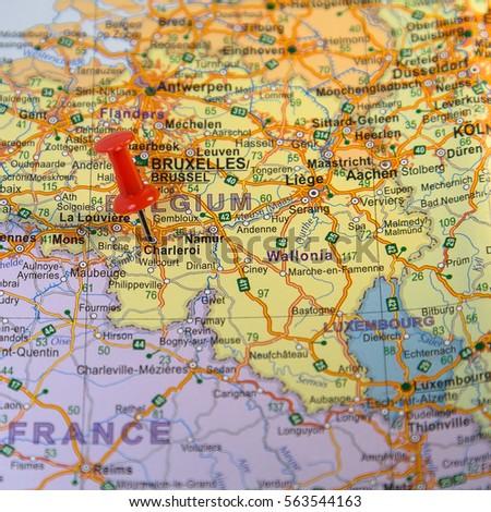 Charleroi Pinned On Map Belgium Stock Photo 563544163 Shutterstock