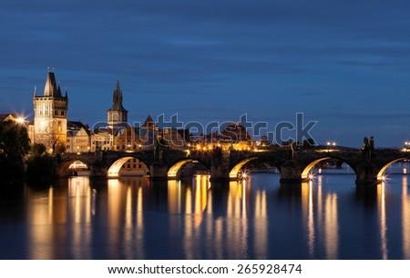 Charles Bridge in Prague, Czech Republic - stock photo