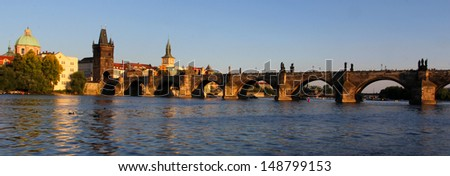 Charles Bridge (Karluv most) in Prague, Czech republic.