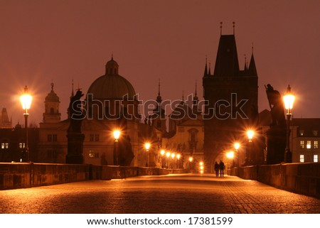 Charles Bridge (Prague) - stock photo