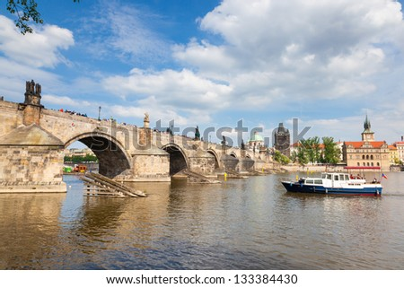 Charles Bridge, Prague Czech Republic - stock photo