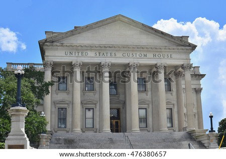 Charleston courthouse in South Carolina, USA