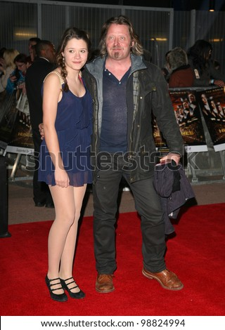 Charley Boorman and daughter arriving at the European Premiere of 'The Hunger Games' at the O2 Arena, London. 14/03/2012 Picture by: Alexandra Glen / Featureflash