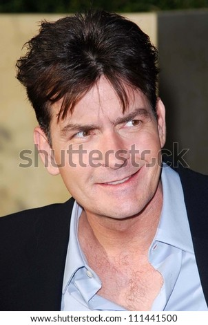 Charlie Sheen at The Sixth Annual Chrysalis Butterfly Ball. The Home of Susan Harris and Hayward Kaiser, Mandeville Canyon, CA. 06-02-07
