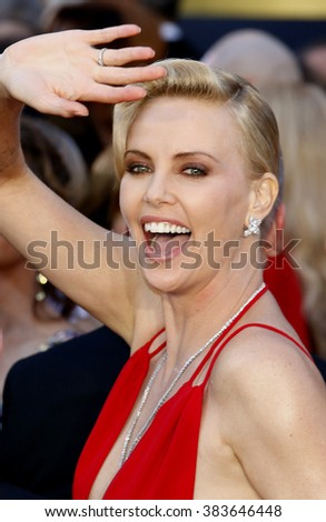 Charlize Theron at the 88th Annual Academy Awards held at the Hollywood & Highland Center in Hollywood, USA on February 28, 2016. - stock photo