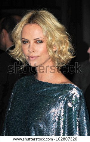 Charlize Theron at the 24th Annual American Cinematheque Award Ceremony Honoring Matt Damon, Beverly Hilton hotel, Beverly Hills, CA. 03-27-10 - stock photo