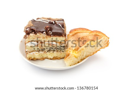 charlotte cake with apples - stock photo
