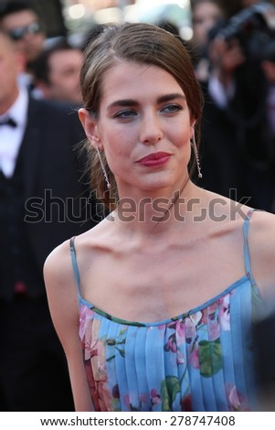 Charlotte Casiraghi attends the Premiere of 'Carol' during the 68th annual Cannes Film Festival on May 17, 2015 in Cannes, France. - stock photo