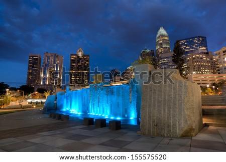 Charlotte City Lights - stock photo