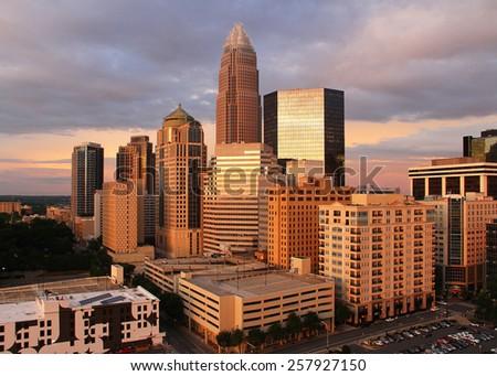 Charlotte, downtown, NC - stock photo