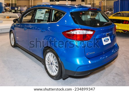 CHARLOTTE, NORTH CAROLINA - NOVEMBER 20, 2014: Ford C-Max on display during the 2014 Charlotte International Auto Show at the Charlotte Convention Center.