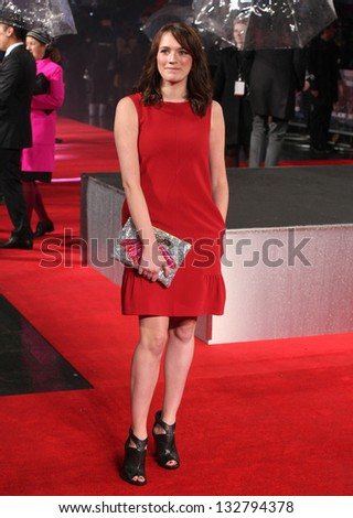 Charlotte Ritchie arriving for the G.I. Joe Retaliation 3D, UK premiere at the Empire Leicester Square, London. 18/03/2013 Picture by: Alexandra Glen
