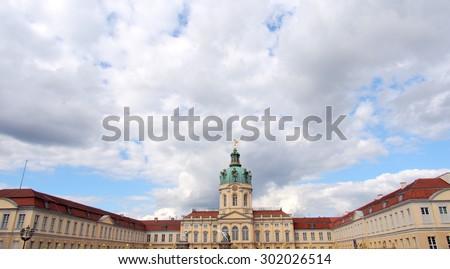 Charlottenburg Palace in Berlin, Germany - stock photo