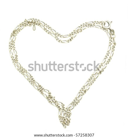 Charm bracelet in heart shape with heart shaped - stock photo