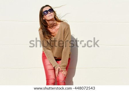 charm woman in sunglasses