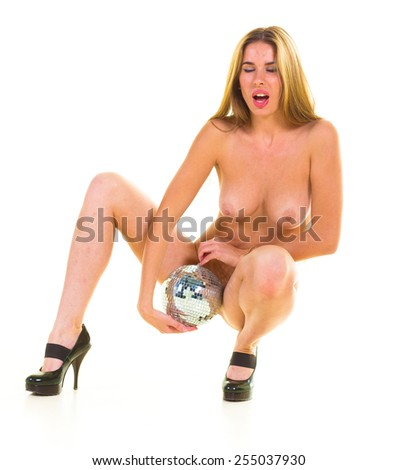 Charming and Naked Naked Beautiful  - stock photo