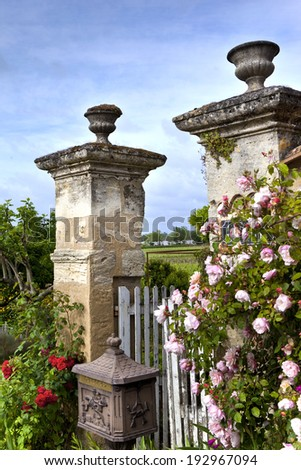 Charming garden in the countryside - stock photo
