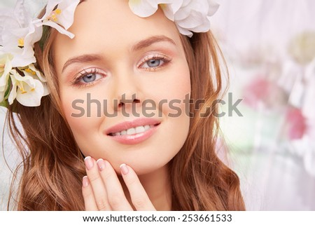 Charming girl with spring makeup