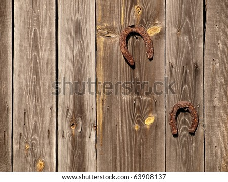 Charming Rustic Wall and Hinge on Old Barn - stock photo