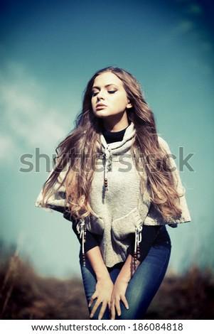 Charming woman - Stock Image - stock photo