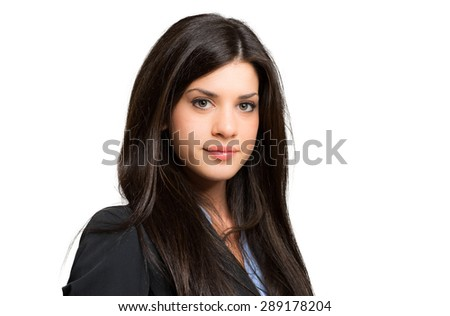 Charming young businesswoman portrait - stock photo