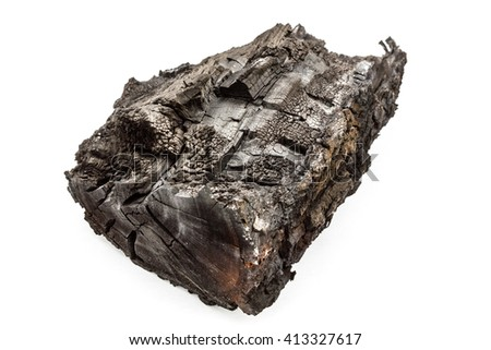 Charred bunt, isolated on a white background