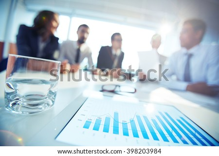 Chart and graph - stock photo