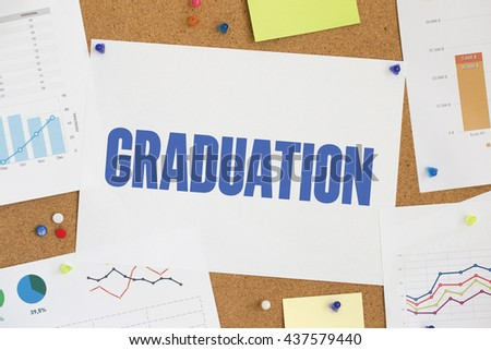 CHART BUSINESS GRAPH RESULT COMPANY GRADUATION CONCEPT - stock photo
