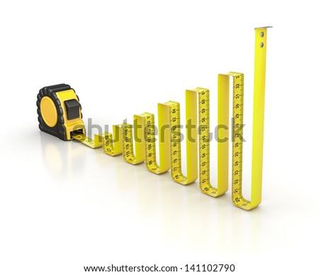 Chart concept - stock photo