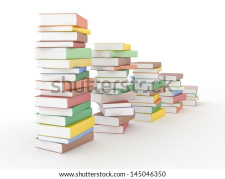 Chart of books on white