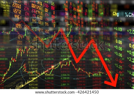 Chart of world stock market - stock photo