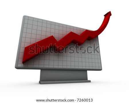 Chart Up - stock photo