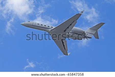Charter jet - stock photo