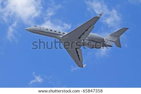 Charter jet - stock photo