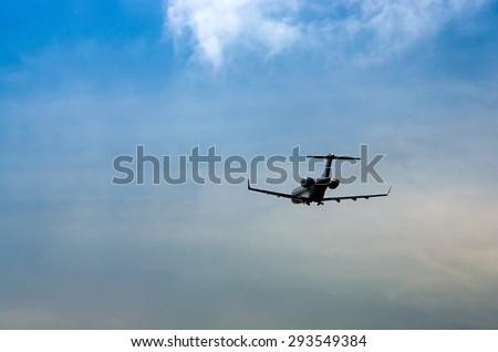 charter plane - stock photo