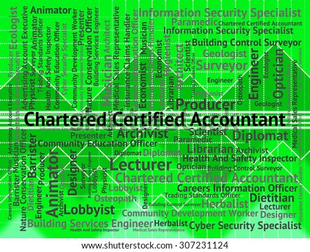 Chartered Certified Accountant Representing Book Keeper And Accounting