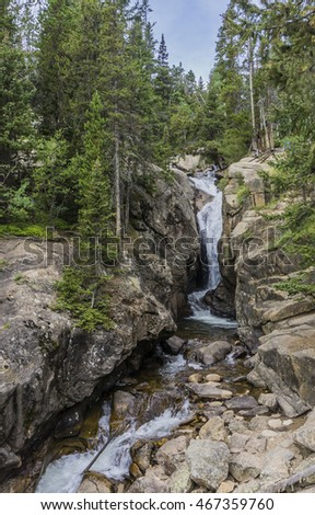 Chasm Falls in Rocky Mountain National Park Colorado
