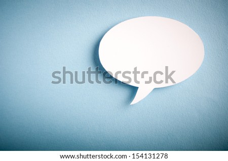 Chat bubbles - paper cut design - stock photo