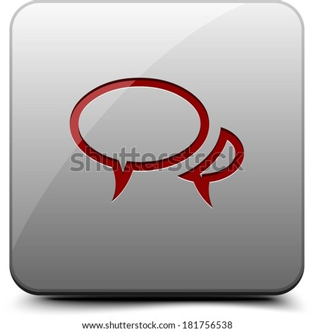 Chat button - stock photo