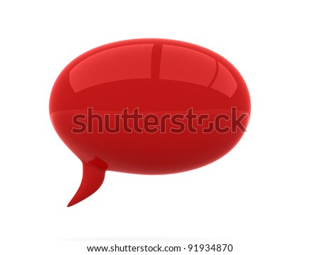 Chat - 3d render illustration - stock photo