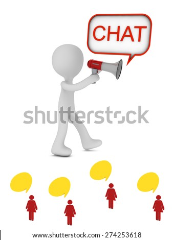 chat icon - stock photo