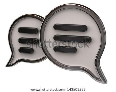 Chat icon isolated on white background - stock photo
