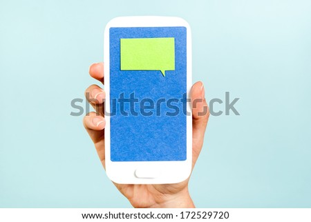 Chat message on phone concept - stock photo