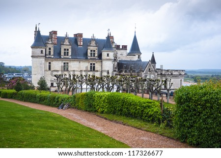 Chateau (Castle) Amboise in the valley of Loire, France.