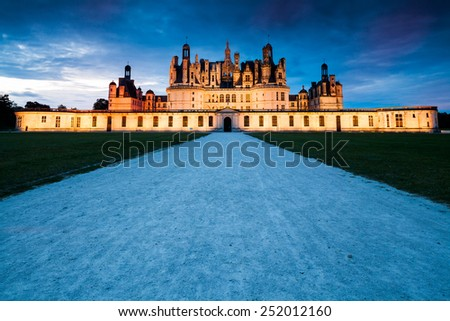 Chateau Chambord, France - stock photo