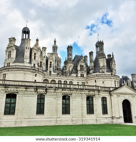 Chateau Chambord, majestic castle in Loire Valley, France.