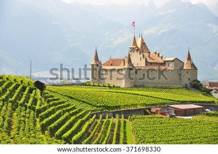 Chateau d'Aigle, Switzerland - stock photo