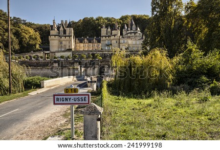 Chateau d'Usse. France. Chateaux of the Loire Valley. - stock photo