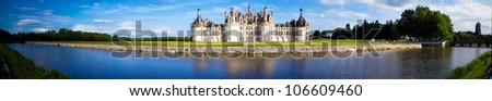 Chateau de Chambord, Loire Valley, France, UNESCO - stock photo