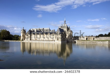 Chateau de Chantilly ( Chantilly Castle ), Oise, Picardie, France - stock photo